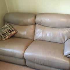 Harveys 3 Seater Recliner Sofa Wood Back 2 X Harvey 39s Leather Electric Sofas In