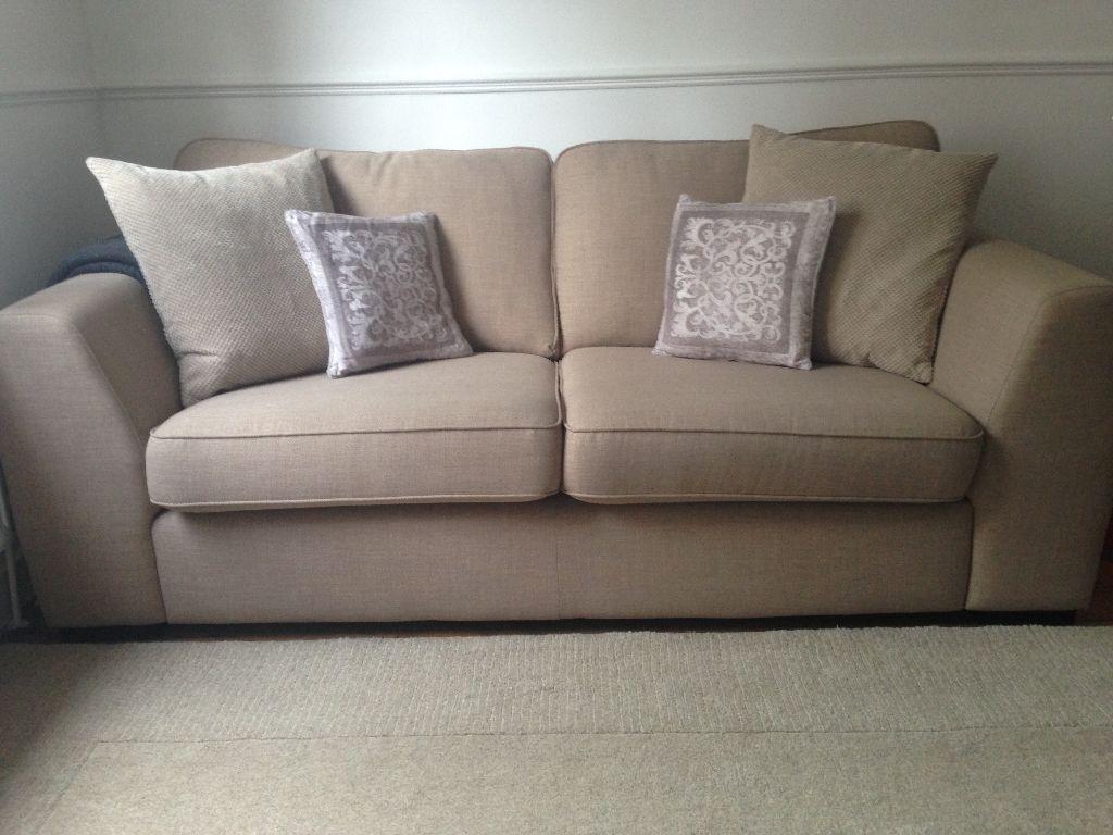 DFS Zapp 3 Seater Cream Sofa...