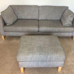 Ikea Chair Covers Karlstad Accent Chairs Modern Isunda Grey 3 Seat Sofa With Cushions And