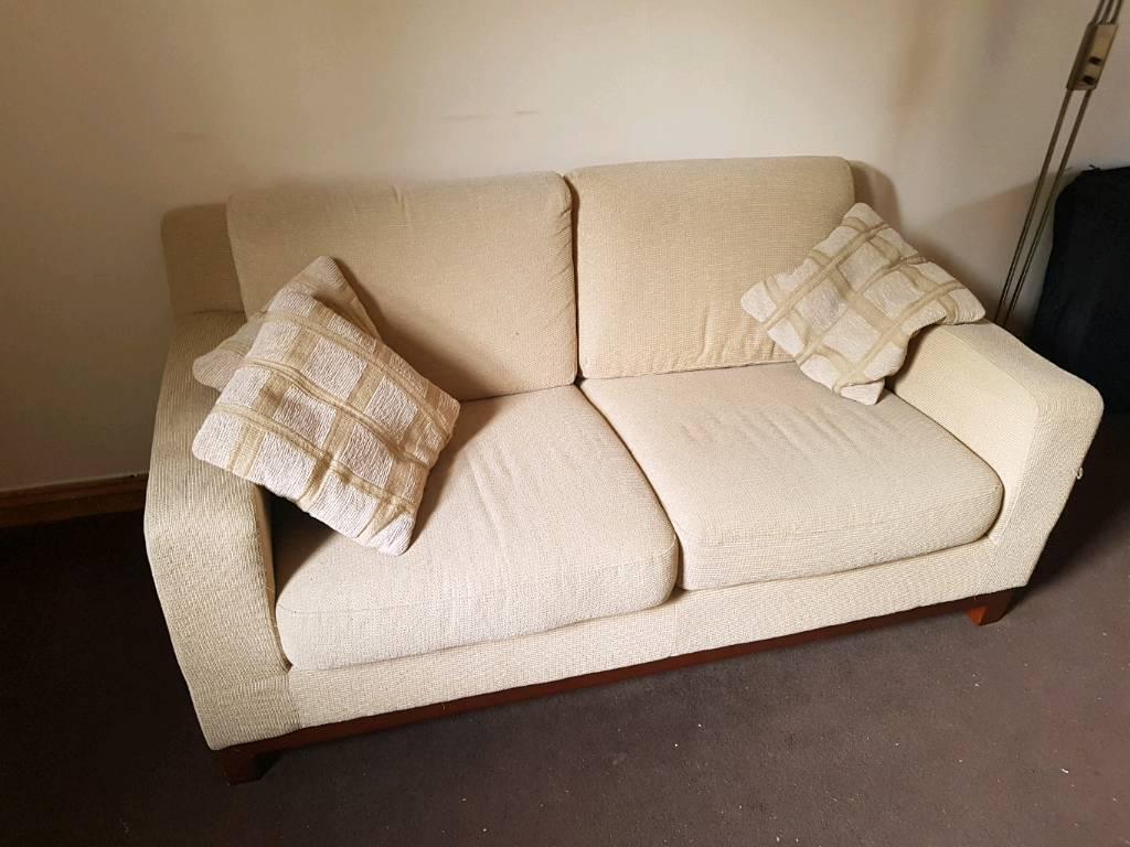 oatmeal sofa cushion cover 2 seater cream in hailsham east sussex gumtree