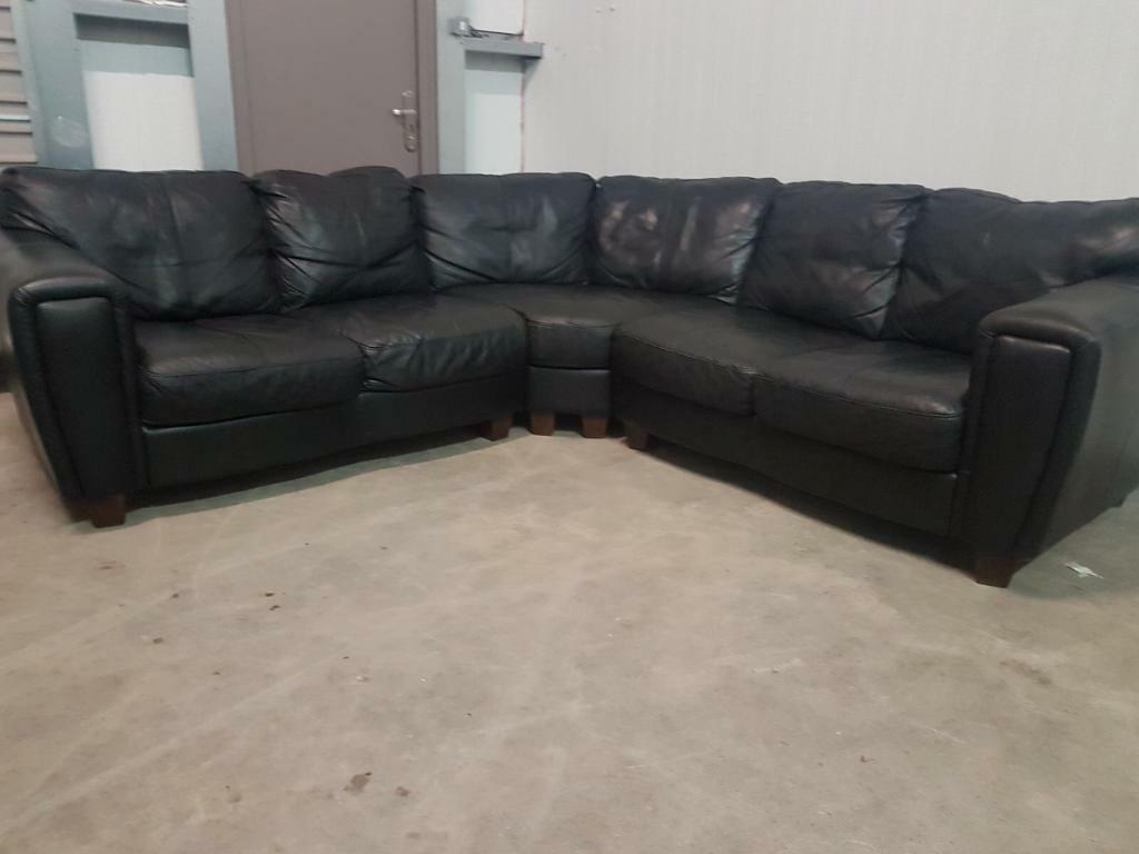 black leather sofas on gumtree sofa dining table combined corner couch suite can deliver in
