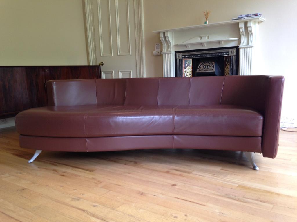 leather sofa brown dfs living room decor to match designer rolf benz | in hyndland, glasgow ...