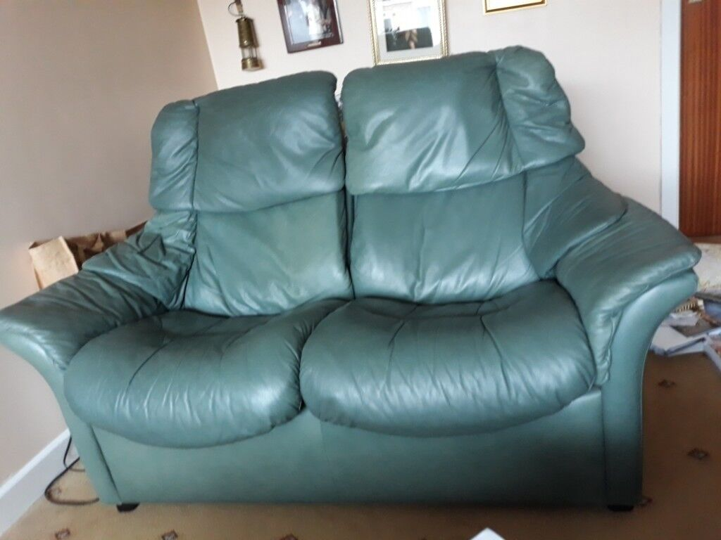 paloma sofa sofology large crossword 2 seater reclining stressless green leather in