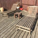 2 X Wooden Garden Lounger Recliner Sun Outdoor Chairs Beds Inc Cushions Inc Small Table In Wisbech Cambridgeshire Gumtree