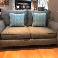 Grey Fabric Sofa Next French Connection Ebay Ashford X2 Dark Boucle Weave In Kingston London