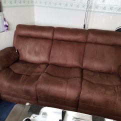 Two Seater Recliner Sofa Gumtree Chesterfield Fabric Grey For Sale 2 43 3 Recliners In Kirkcaldy Fife