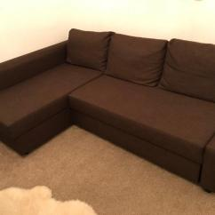 Corner Sofa Bed With Storage Friheten Manual French Provincial And Loveseat Ikea Brown In