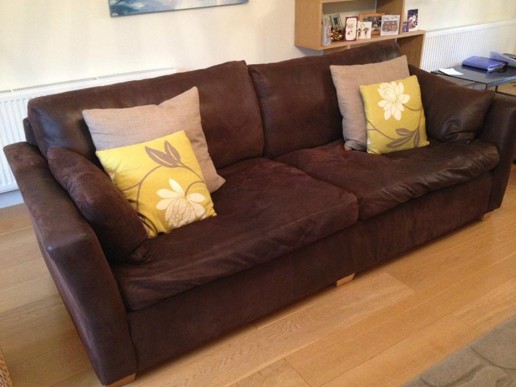 4 seater sofas leather fabric how to remove ballpoint ink from sofa dark brown nubuck style hide