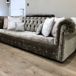 Chesterfield Sofa Bed Grey Velvet Sleeper For Sale Designer Crushed In Pewter Silvery