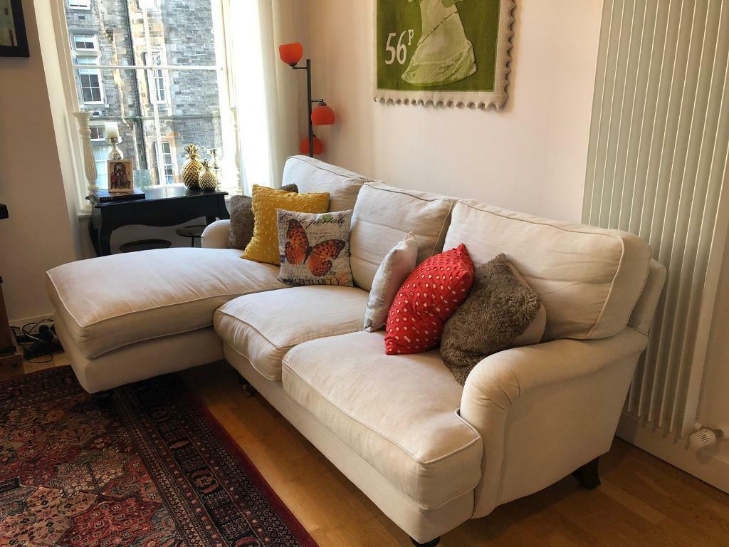 bluebell sofa gumtree kivik and chaise lounge 3 seater from com in ivory belgian linen excellent condition