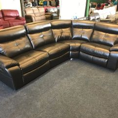 Grey Leather Sofas Harveys Sectional Recliner Sofa Langdale Black Leathair Corner 4-5 ...