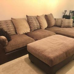 Sofa Warehouse Leicestershire Sleeper Clearance Brown Leather Fabric Corner And Matching Foot Stool In Leicester