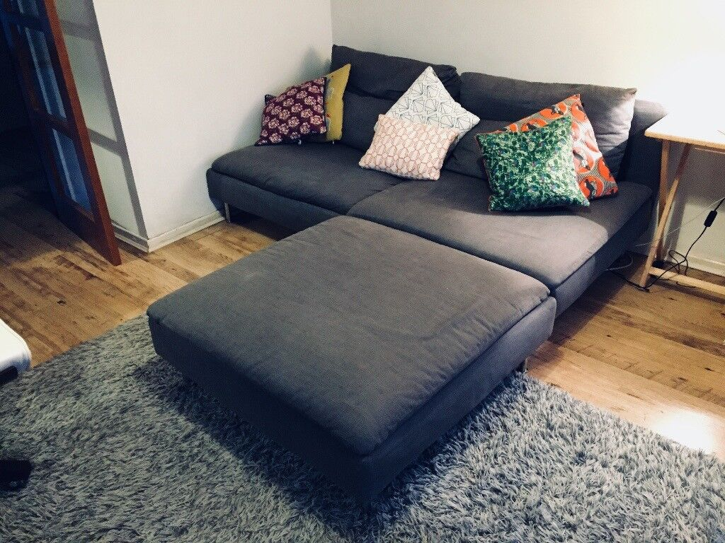 cheap three seater sofa 50 s style bed ikea soderhamn modular 3 and footstool - only ...