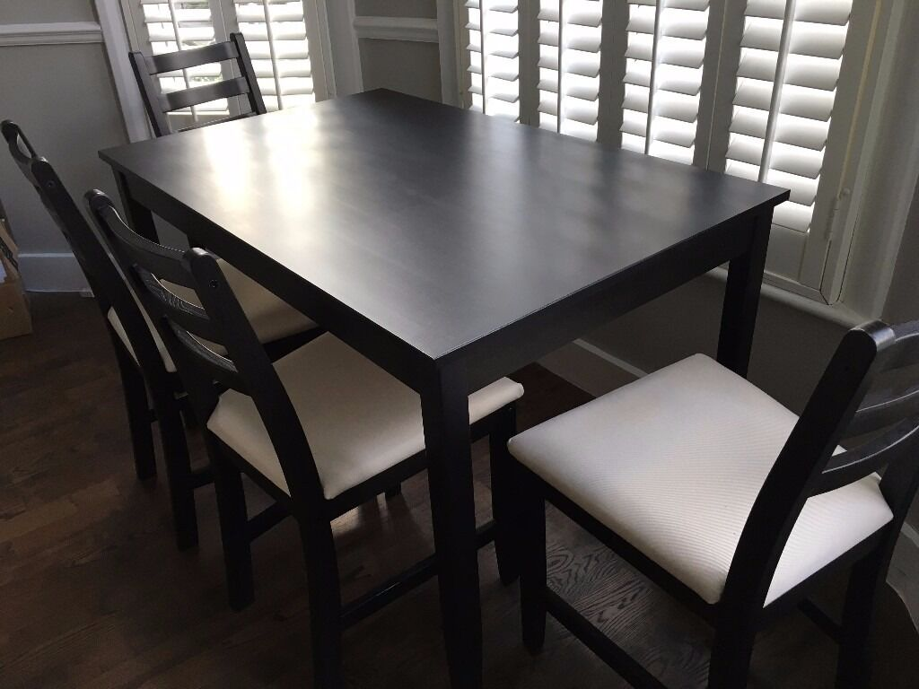 folding chair legs the first years high ikea lerhamn table with 4 chairs black-brown | in hammersmith, london gumtree