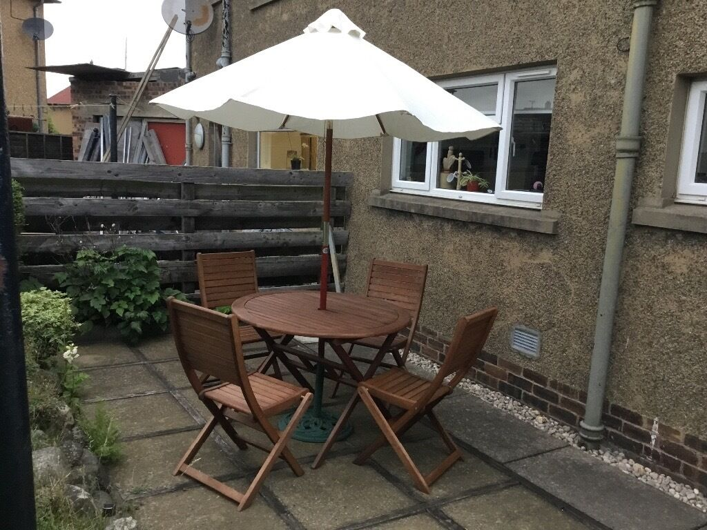 4 seater outdoor table and chairs wedding chair covers hire devon sold garden furniture patio set round
