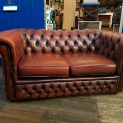 Red Leather Sofas Gumtree Manchester Sofa Upholsterers In Poole Oxblood Chesterfield