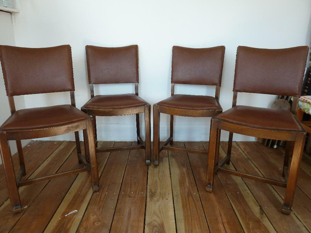 arts and crafts style chair deck covers buy online four dark wood kitchen or dining
