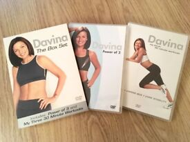 chair gym dvd set ostrich beach chairs twister seat for a total body workout in minutes used davina mccall the power of 3 my three 30 minute workouts