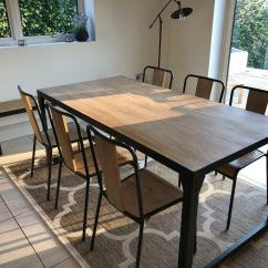 Industrial Style Dining Chairs Black Distressed Kitchen Set Table 6 And Bench In Bromley