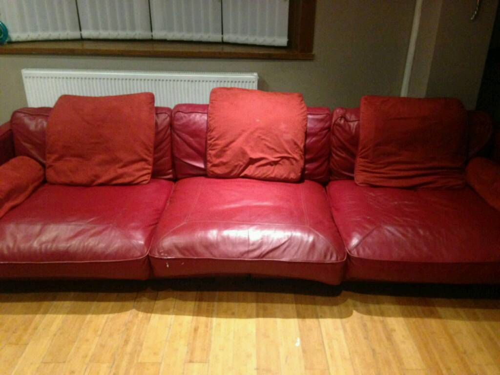 dfs red leather corner sofa bed colorful designs large california in handsworth