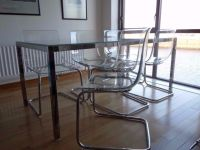 Ikea torsby glass table and 6 tobias transparent   in ...