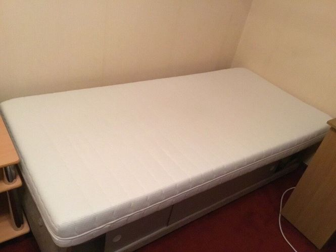 Single Firm Memory Foam Mattress With Topper