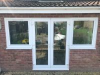 WHITE UPVC FRENCH PATIO DOORS WITH OPTIONAL SIDE WINDOWS ...