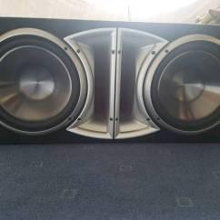 Dual Voice Coil Subwoofer Box Treadmill Motor Wiring Diagram Rockford Fosgate Double 12 Inch Kenwood Rare Car Audio Master