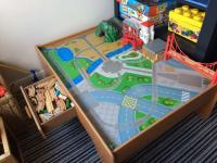 ELC train and car play table with wooden train set | in ...