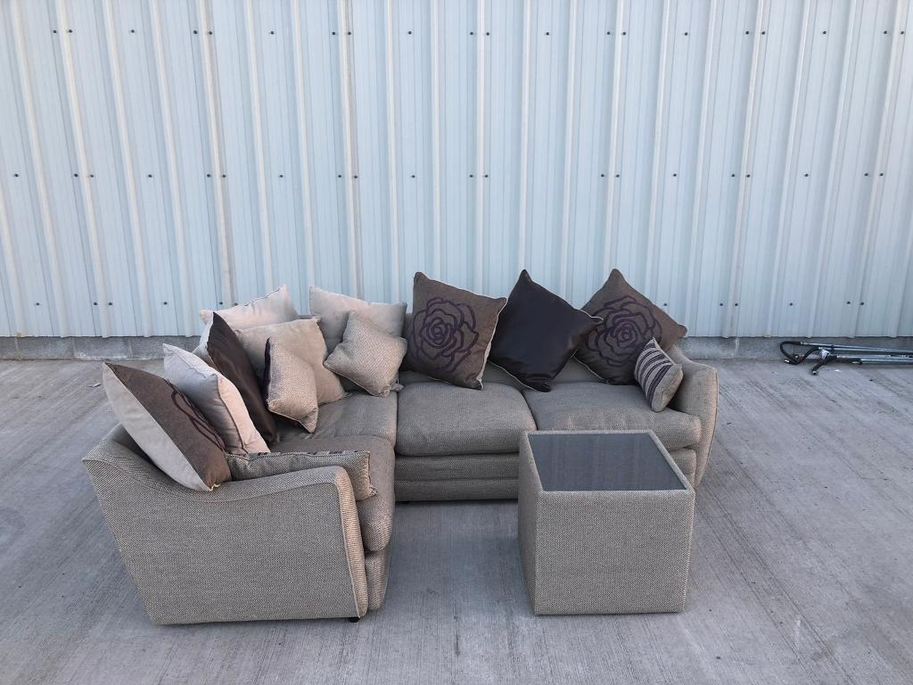 corner sofas glasgow gumtree full size sleeper sofa sheets dfs tweed couch suite can deliver in