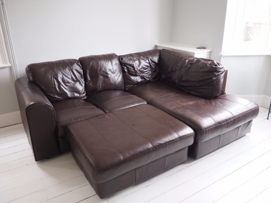 how much does a genuine leather sofa cost sure fit loose covers uk real corner 1 800 new in stamford