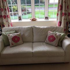 Sofa Collection Charity Leicester Tiendas De Bizkaia Cream Leather In Leicestershire Gumtree
