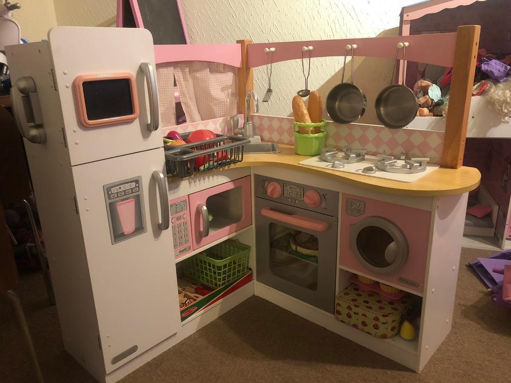 kids wooden kitchen round tables kid kraft in cumbernauld glasgow gumtree