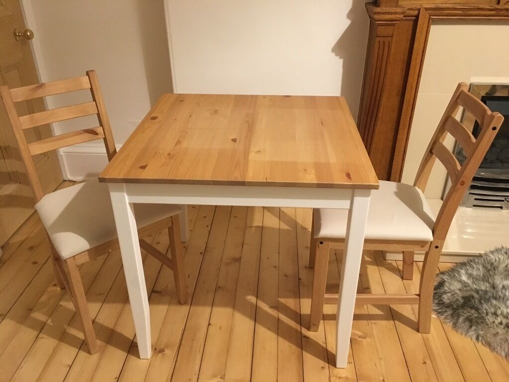 padded folding chairs uk therapist chair for sale ikea lerhamn 74cm x dining table & 2 matching | in marchmont, edinburgh gumtree
