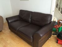 3 Seater Cargo Double Dark Brown leather Sofa Bed | in ...