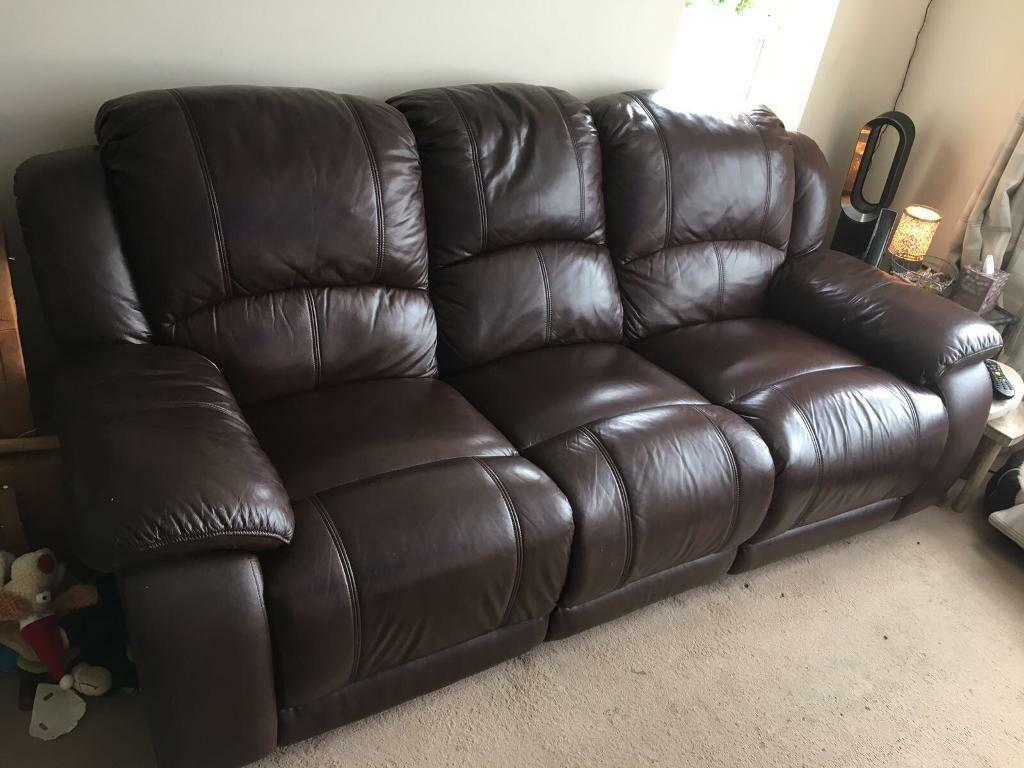 harveys 3 seater recliner sofa dwell bed paris harvey 39s and 2 dark brown leather