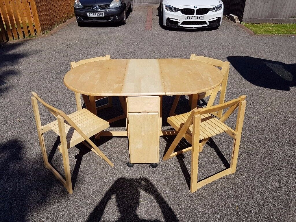 rubberwood butterfly table with 4 chairs boyd dental solid folding free delivery 083