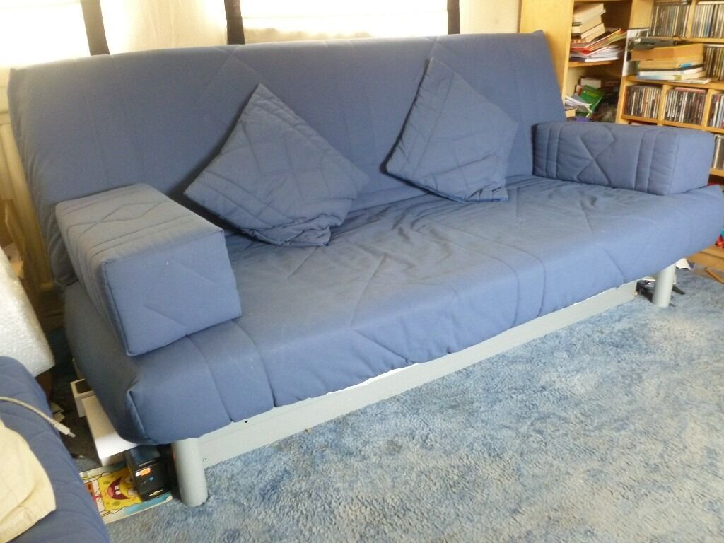 sofa bed with storage box best upholstery fabric ikea beddinge 3 person and navy