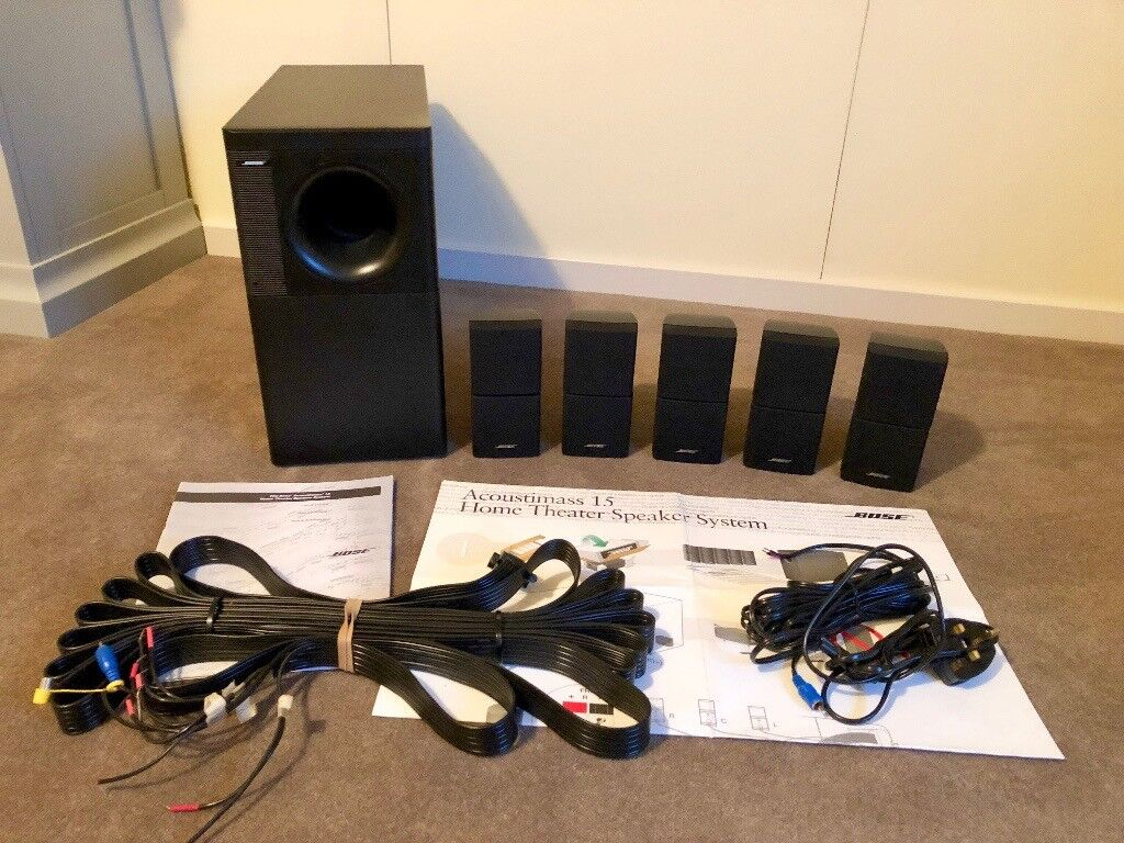 hight resolution of bose acoustimass 15 home theatre speaker system