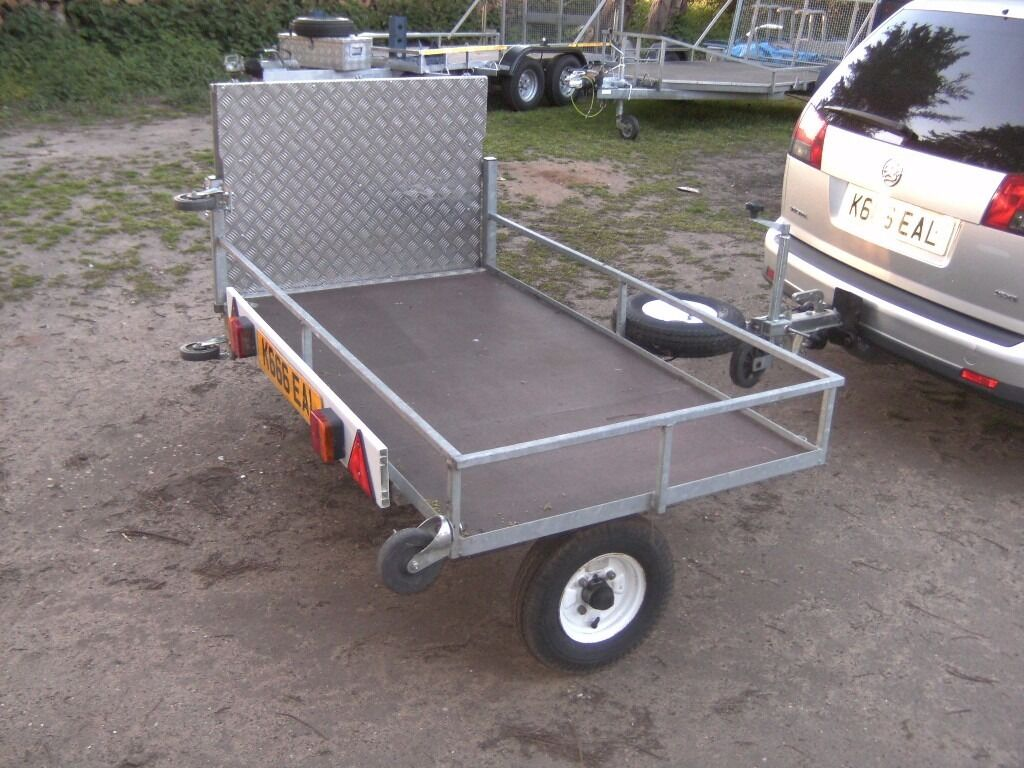 wheelchair trailer blue dining room chairs fully galvanised mobility scooter etc transporter car