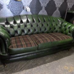 Tartan Chesterfield Sofa Blue Fabric Stunning Thomas Lloyd 3 Seater Hump Back Green Leather Uk Delivery