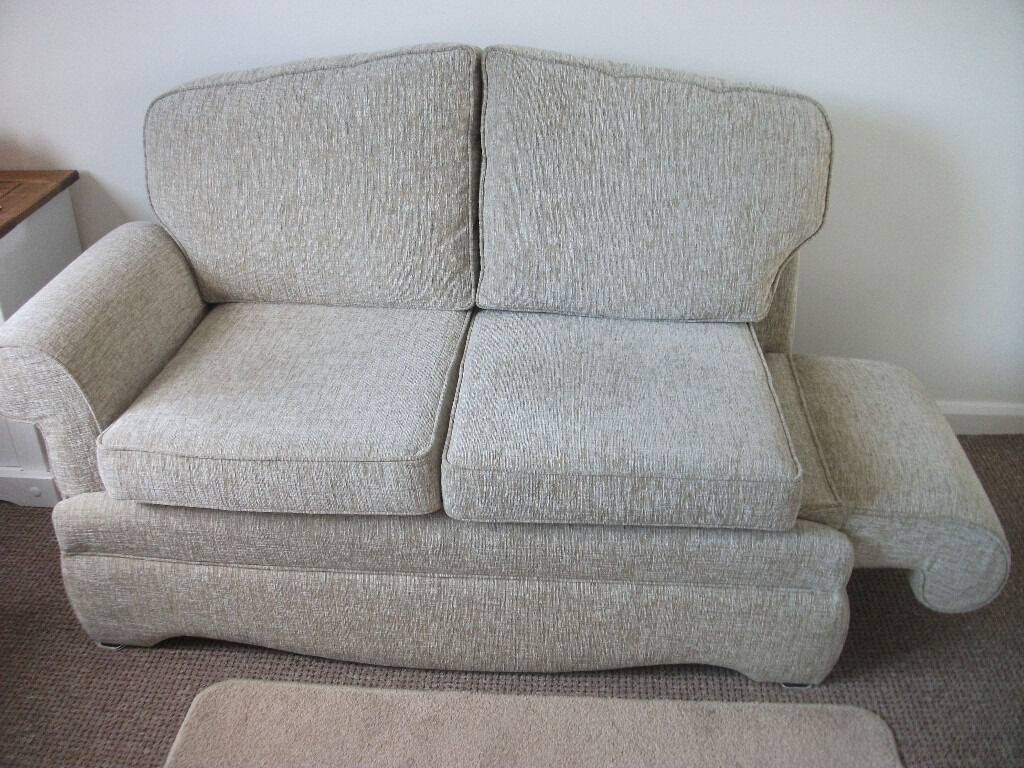 how to clean sofa arms best way your fabric 2 seater drop arm by hsl excellent condition