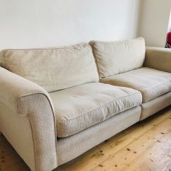 Sofa 250cm Ottoman Bed New Zealand Furniture Village Good Used Condition Cream Oatmeal