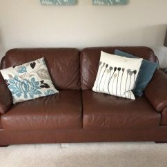 Cheap Brown Leather 2 Seater Sofa Cheapest Corner Beds Large 3 Person In