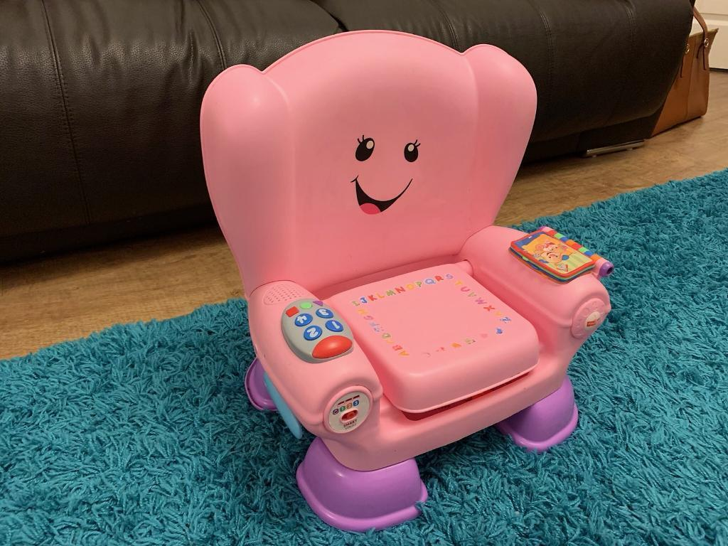 fisher price laugh and learn chair pink ergonomic desk no wheels smart stage in washington