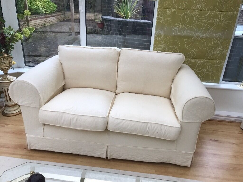 two seater chairs uk office chair on carpet 2 x sofas 1 3 cream loose covers