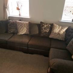 Duck Feather Corner Sofa Black Leather Reclining And Loveseat Dfs Martina Part Foam Filled Cushions With Pillows