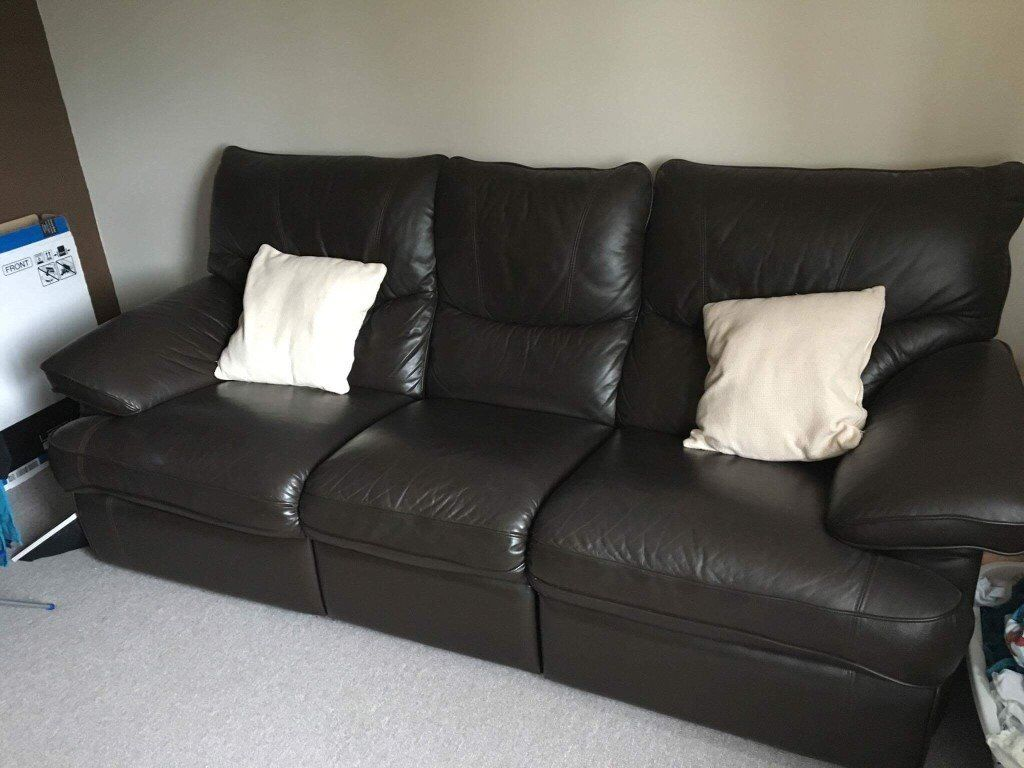 leather sofa brown dfs swivel chair next ex sofas in portlethen aberdeen gumtree