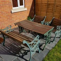 Iron Table And Chairs Set Unique Executive Office Wrought Metal Wood Garden Furniture