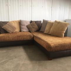 Corner Sofa Uk Delivery Used Online Brown Fabric Same Day In